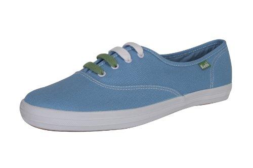 Keds Champion Oxford Allure Blue Damen Schuhe Sneakers Freizeitschuhe Sportschuhe Turnschuhe Low Canvas für Frauen Blau Hellblau Größe D 40 UK 6.5