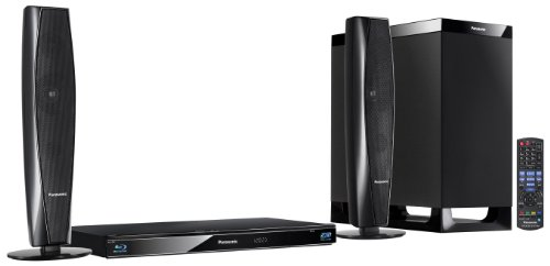 Panasonic SC-BTT362EGK 2.1 3D-Blu-ray Heimkinosystem (WLAN, 2 HDMI Eingänge, digitale iPod/iPhone Dock, SDXC, 2 x USB, 520 Watt) schwarz