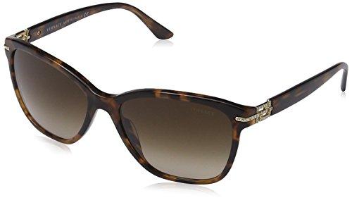 Versace Damen Wayfarer Sonnenbrille Rock Icons Greca, Gr. One Size, Braun