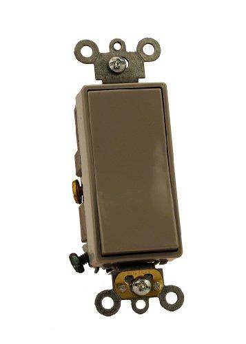 Leviton 5691-2GY 15 Amp, 120/277 Volt, Decora Plus Rocker Single-Pole AC Quiet Switch, Commercial Grade, Gray