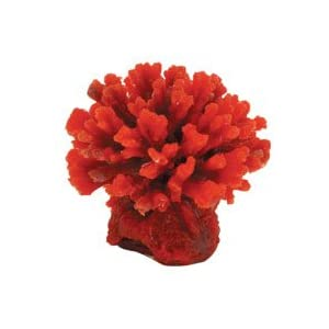 Coral Art - Stylophora - Red - 3.1 in. x 3 in. x 2.3 in.