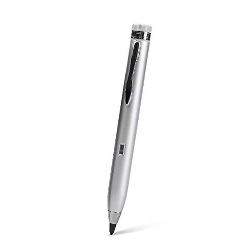 Acase タッチペン Active Sense Pro ペン先 2mm 超極細 スタイラスペン スマホ / タブレット 用 自己静電発生式 stylus for iPad Pro 9.7 / iPad Pro 12.9 / iPhone6s / iPhone 6s Plus / iPhone SE / iPad Air 2 / iPad mini 4 / Xperia X Performance / GALAXY S7 Edge / Nexus / AQUOS / ARROWS シルバー 【国内正規品】