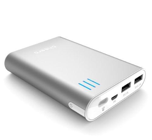 マルチデバイス対応 cheero Power Plus 2 10400mAh (シルバー) 大容量モバイルバッテリー