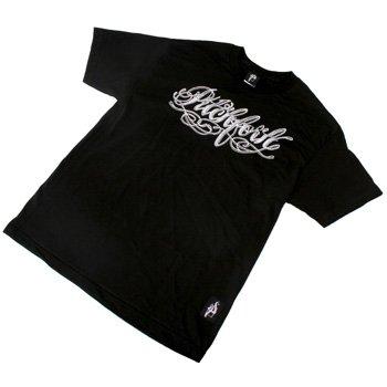 Buy Pitchfork NY – Tattoo Script Black – T-Shirt