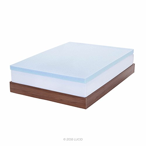 lucid 3-inch gel memory foam mattress topper,video review,queen,(VIDEO Review) LUCID 3-inch Gel Memory Foam Mattress Topper - Queen,