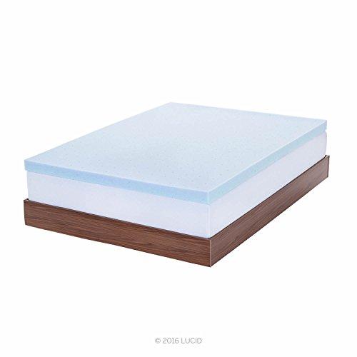 LUCID 3-inch Gel Memory Foam Mattress Topper - Twin XL