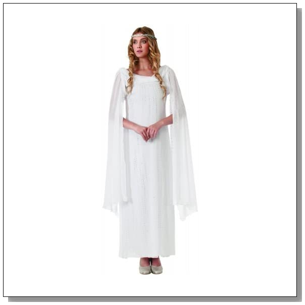Rubie's Costume The Hobbit Galadriel Dress With Headpiece, White, Adult One Size