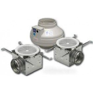 sale fantech pb270 2 inline exhaust fan 270 cfm bathroom kit 2 grilles for 4 6 duct discount abletse1