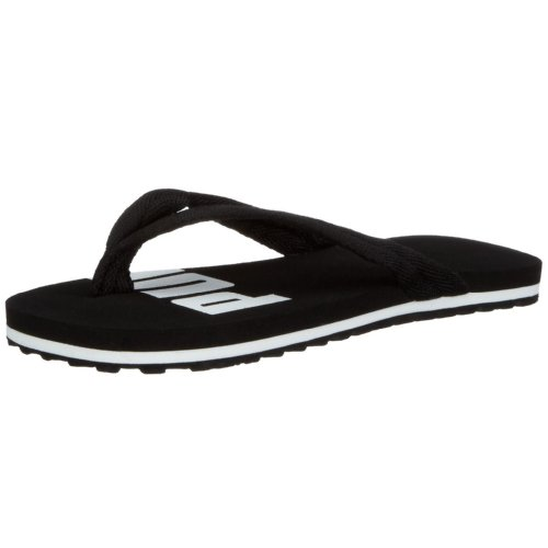 Puma Basic Flip II Jr 348092 04, Unisex - Kinder Sandalen/Bade-Sandalen, schwarz, (black-white 04), EU 33, (US 1), (UK 2)