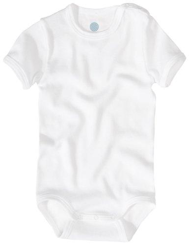 Sanetta 320500 - Body kurzarm, Basic Collection, Organic Cotton weiss