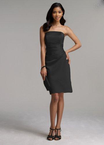 f5387170fb96d Buy!! David's Bridal Short Satin Dress with Side Drape Style F44026 ...