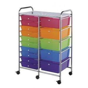 Mobile Storage Cart 15 Drawer Multi