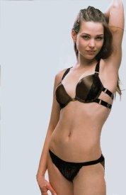 aimerfeel Dessous- Sexy-push up gepolstert BH & string, spezielle X Gurt Schokolade Satin Dekollet¨¦-BH Set, Magnetische Front Befestigungsclip
