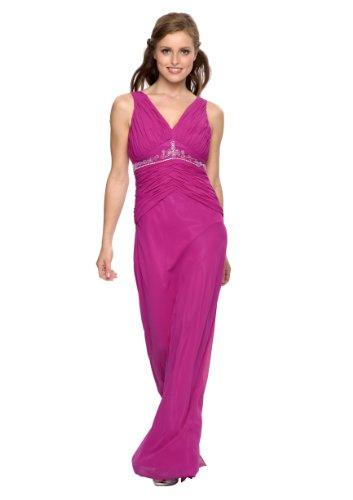 Astrapahl, Langes Abendkleid, mit Strass, Perlen, Farbe purple, Gr.42
