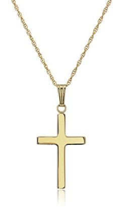 14k-Yellow-Gold-Solid-Polished-Cross-Pendant-Necklace-18