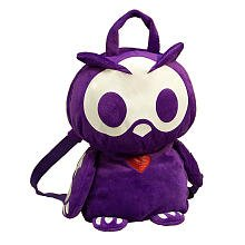 Skelanimals Oliver Owl Purple Plush Backpack