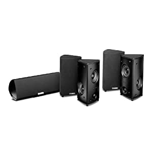 Polk Audio RM95 5Channel Home Theater System Set of Five Black