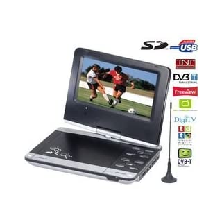 bluetech pdv 900 dvbt lecteur dvd portable 9 tuner tv televiseur dvd portable et radio