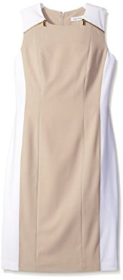 Calvin-Klein-Womens-Color-Block-Sheath-Dress-with-Zip