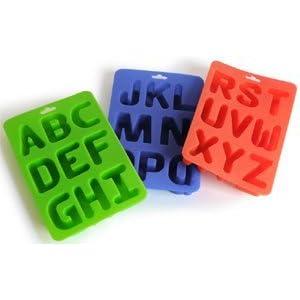 Silicone Alphabet Letter Ice / Bake Tray Set