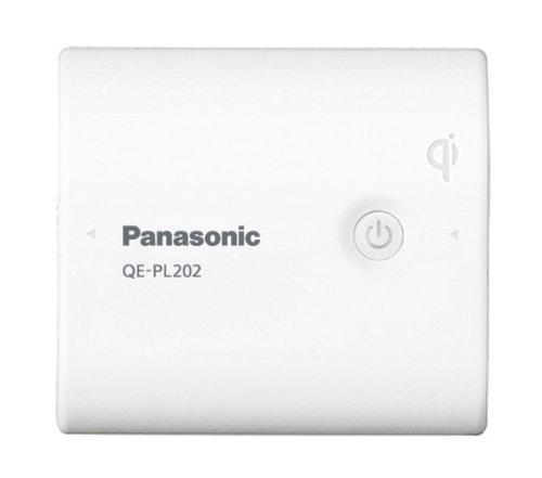 Panasonic Qi対応(無接点充電対応) USBモバイル電源 リチウムイオン 5,400mAh 白 QE-PL202-W