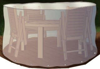 Abdeckung Gartenmöbel Schutzhülle für Sitzgruppe rund 320cm