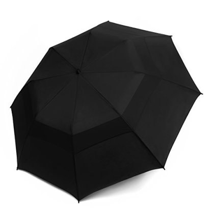 EEZ-Y-Folding-Golf-Umbrella-58-inch-Large-Windproof-Double-Canopy-Auto-Open-Sturdy-and-Portable-Black-58-inch-Arc