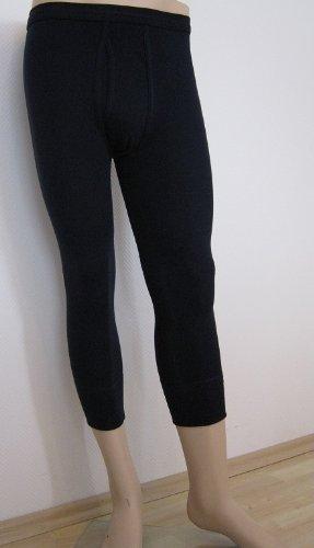 HERMKO 3440 Herren 3/4-lange Unterhose mit Eingriff und Weichbund Hose aus 100% Baumwolle in Feinripp weiß kochfest Beinabschluss mit 10cm Borte