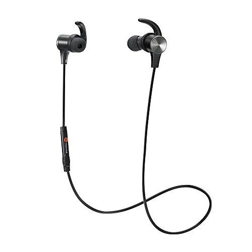 Cuffie Bluetooth Magnetiche, TaoTronics Auricolari Sportivi Wireless Stereo ( Bluetooth 4.1, aptX, A2DP, 6 ore di Riproduzione, Microfono Incorporato, CVC 6.0 ) per iPhone, Galaxy, Tablet, MP3, ecc. – Nero