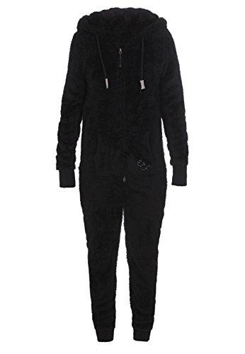 Eight2Nine Damen Teddy-Fleece Overall Jumpsuit mit Ohren
