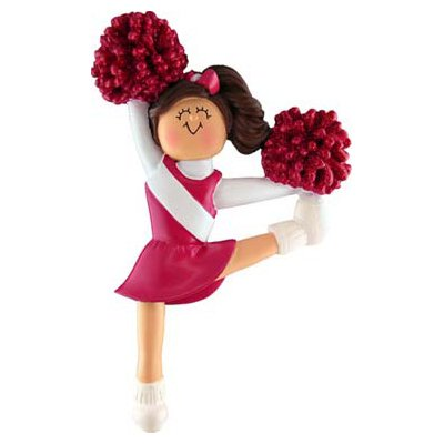 Red Uniform Cheerleader Figurine
