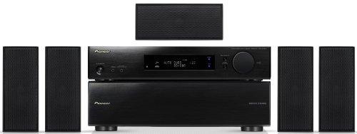 Pioneer HTP-SL100 5.1 Heimkinosystem (VSX-S300 Slimline-Receiver und S-SL100 Lautsprechersystem, 3D, 600 Watt, Dolby Digital, DTS) schwarz