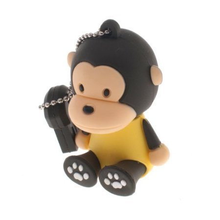 Newdigi® 16GB Cute Monkey Shaped Cartoon Portable USB Flash Memory Drive+ Gift Box