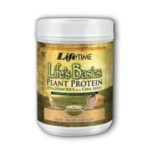 Lifetime Life's Basics Plant Protein, Vanilla, 18.52-Ounces Tub
