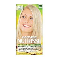 garnier nutrisse level 3 permanent hair creme extra light ash blonde 111 white