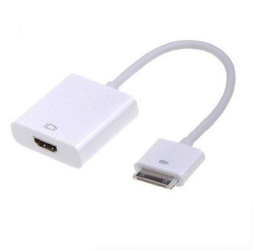 Bengoo VGA変換アダプタ DockーVGAアダプタ 変換ケーブル PCモニタ apple製品用ipad1 2 iphone4 4s ipod touch 4th 対応 ホワイト