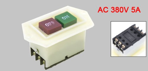 On Off 3pst Self Locking Push Button Switch Ac 380v 5a For