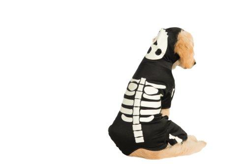 Rubies Costume Halloween Classics Collection Pet Costume, Medium, Glow in The Dark Skeleton Hoodie
