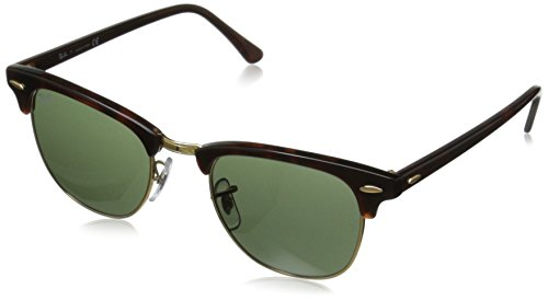 Ray-Ban Classic Clubmaster Sunglasses RB3016, Tortoise/Arista/Green Lens