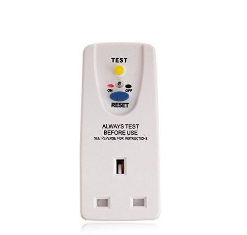 31P9By9TqjL - BEST BUY #1 Woowo Safety RCD Adaptor Circuit Breaker Cutout Garden Power Tools Trip Switch