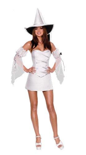 Halloween Kleid in Weiss Silber