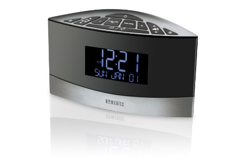 Homedics Sound Spa FM Clock Radio with 20 Relaxation Sounds