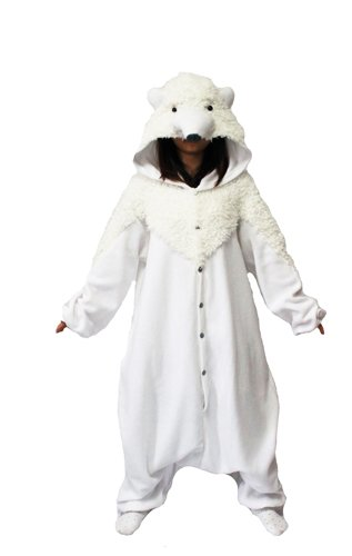 Bcozy Polar Bear Onesie, White, One Size