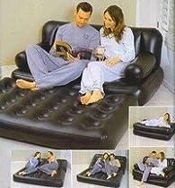 matelas gonflable 5 en 1 divan canapé lit d'appoint 2 personnes