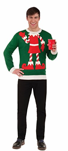 Forum Elf Ugly Christmas Sweater, Multi, Large