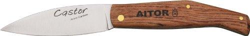 Aitor Knives 16514 Castor Mediana Knife with Bubinga Wood Handles