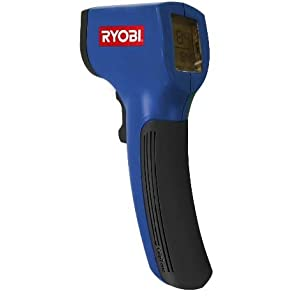 Ryobi Non-Contact Infrared Thermometer We use this to monitor the temperatures of our tires, hubs and other moving parts on our bus when making safety stops.