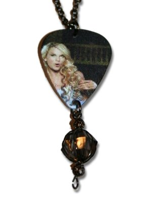 Jewelry Accessories : Taylor Swift Guitar Pick Necklace Description