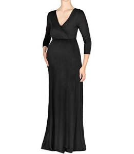 Beachcoco-Maternity-Womens-V-Neck-34-Sleeve-Nursing-Maxi-Dress