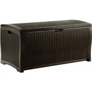 Suncast Mocha Wicker Resin Deck Box